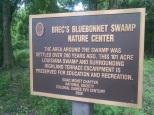 Bluebonnet Swamp Nature Center sign