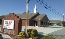 Yesterday we drove by Rosalie Baptist Church where we worked 2 years ago