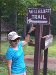 Mill Bluff Trail sign