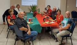 Christmas Dinner with the Team and Dennis