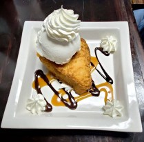 Fried Key Lime Pie with Vanilla Ice Cream