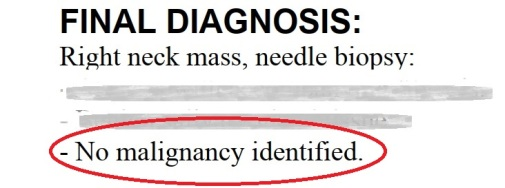 No malignancy identified