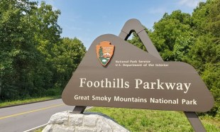 Foothills Parkway sign
