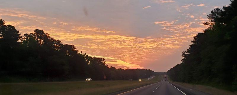 Pretty sunrise on the way to Alabama