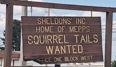 Squirrel Tails sign
